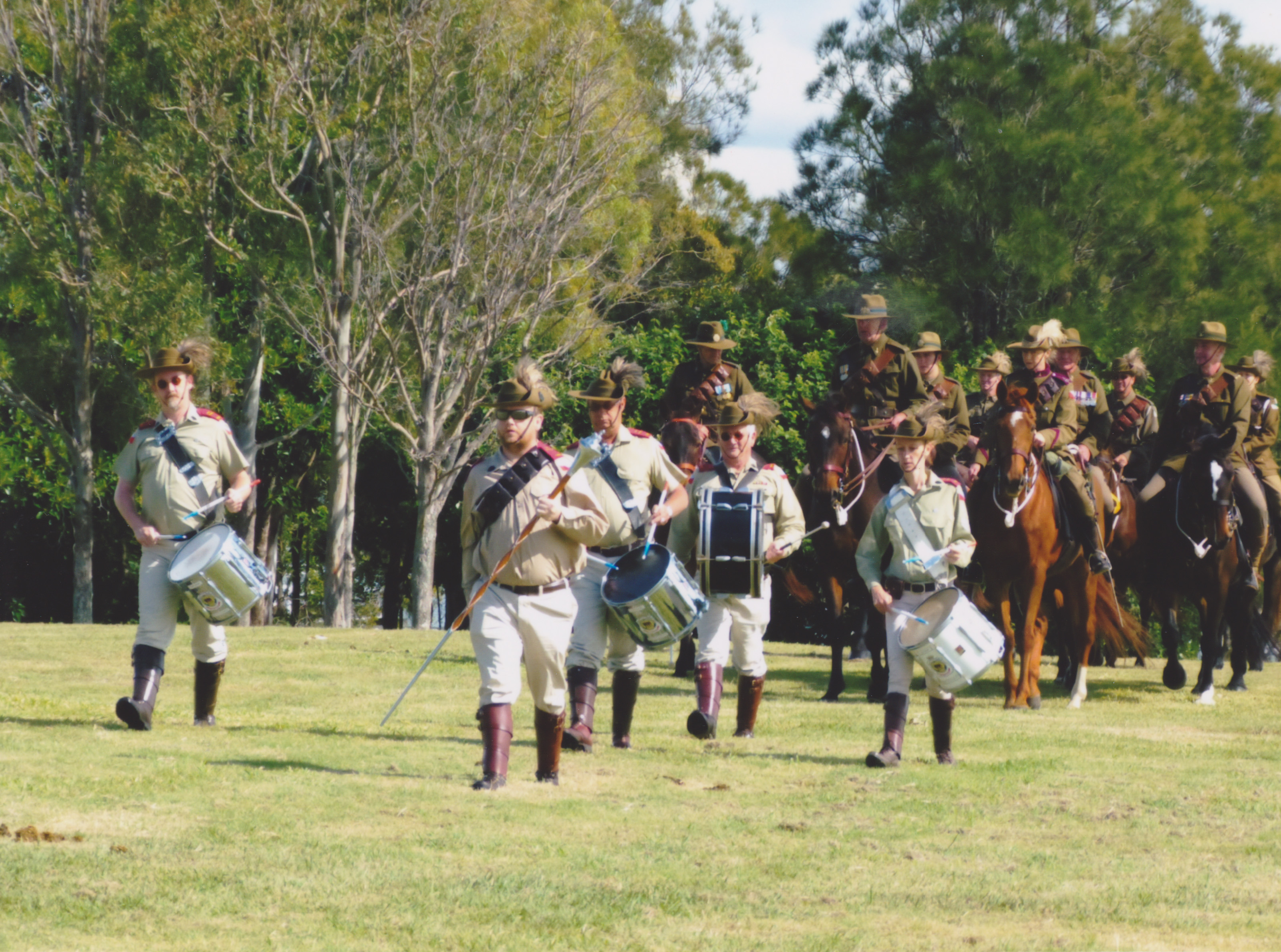Fort Lytton Re-enactment Band and Horses